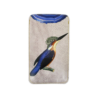 Leather Phone Case Sleeve - Kingfisher