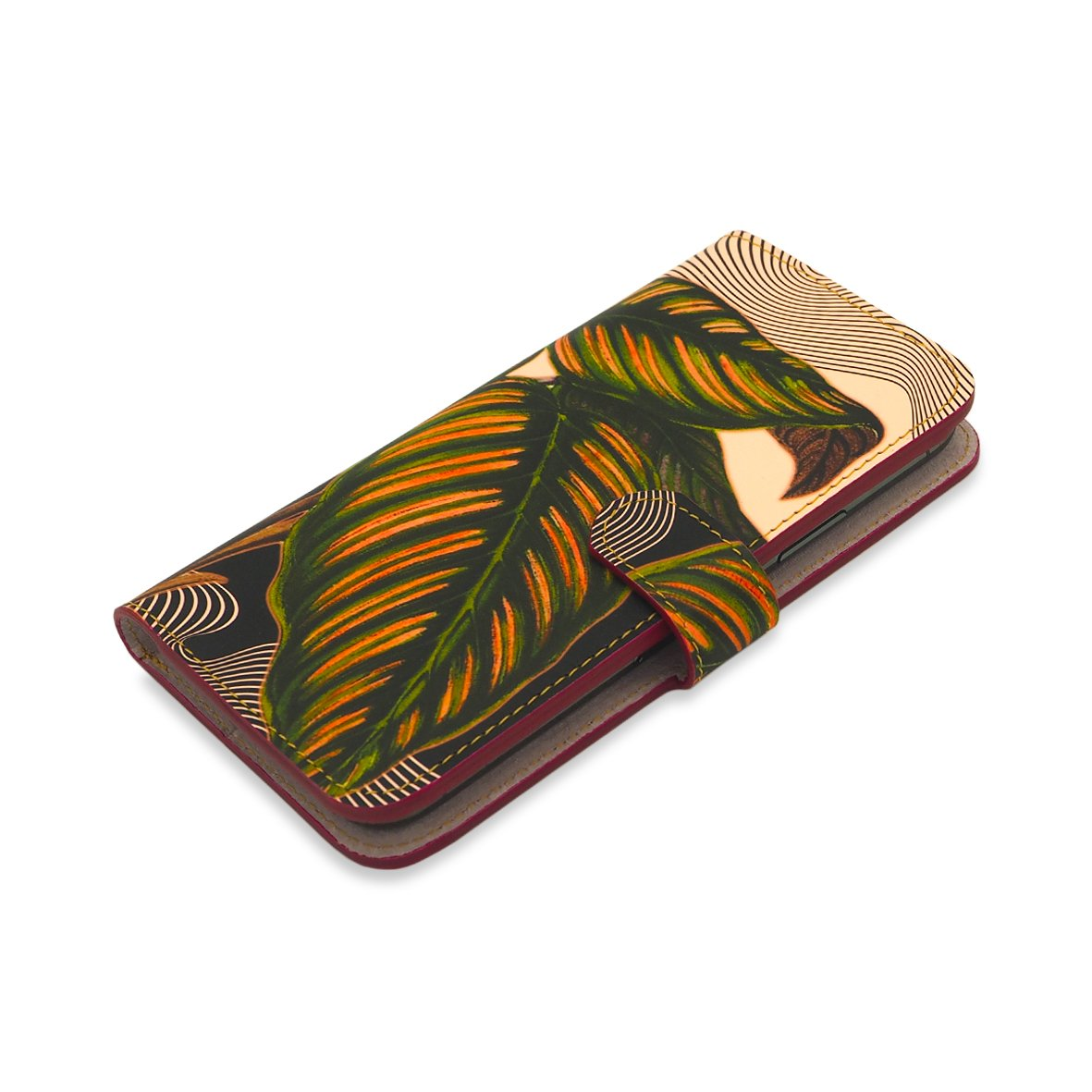 Leather Wallet Folio Phone Case - Maranta Prayer Plant Phone case Tovi Sorga