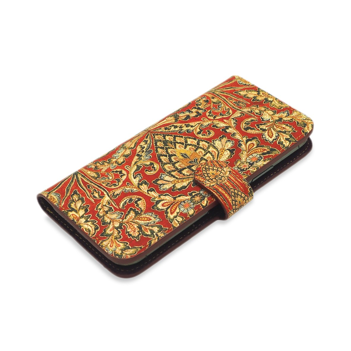 Leather Wallet Folio Phone Case - Tapestry Phone case Tovi Sorga iPhone 11 Pro Max No personalisation Red