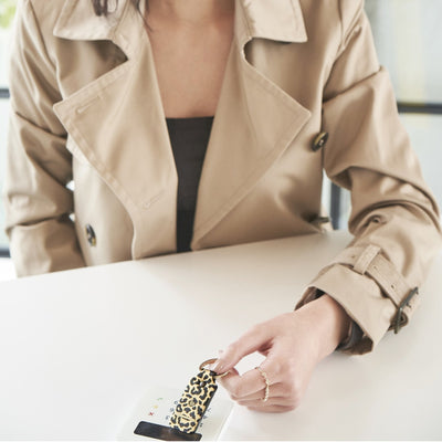 Leather Contactless Payment Key Fob - Leopard