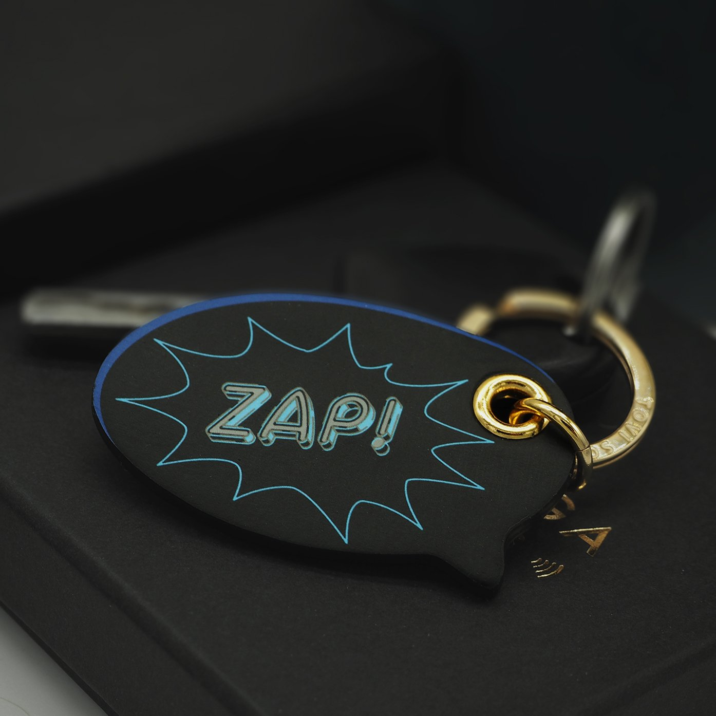 Leather Contactless Payment Key Charm - Zap! Tovi Sorga Black