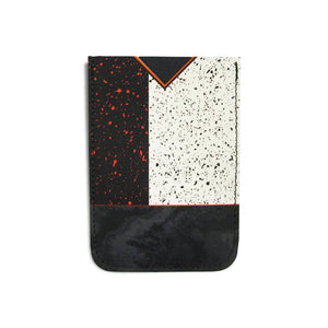 Leather Card Holder / Phone Sticker Wallet Pocket - Black and White Modernist