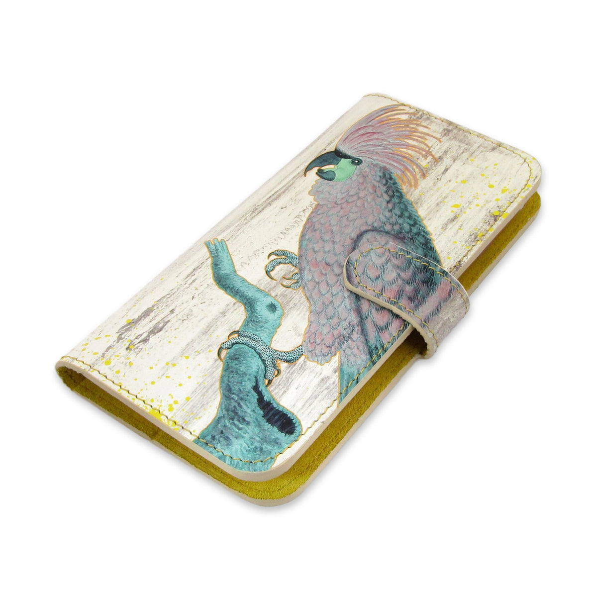 Leather Wallet Phone Case - The Parrots Phone case Tovi Sorga iPhone XR No personalisation Grey