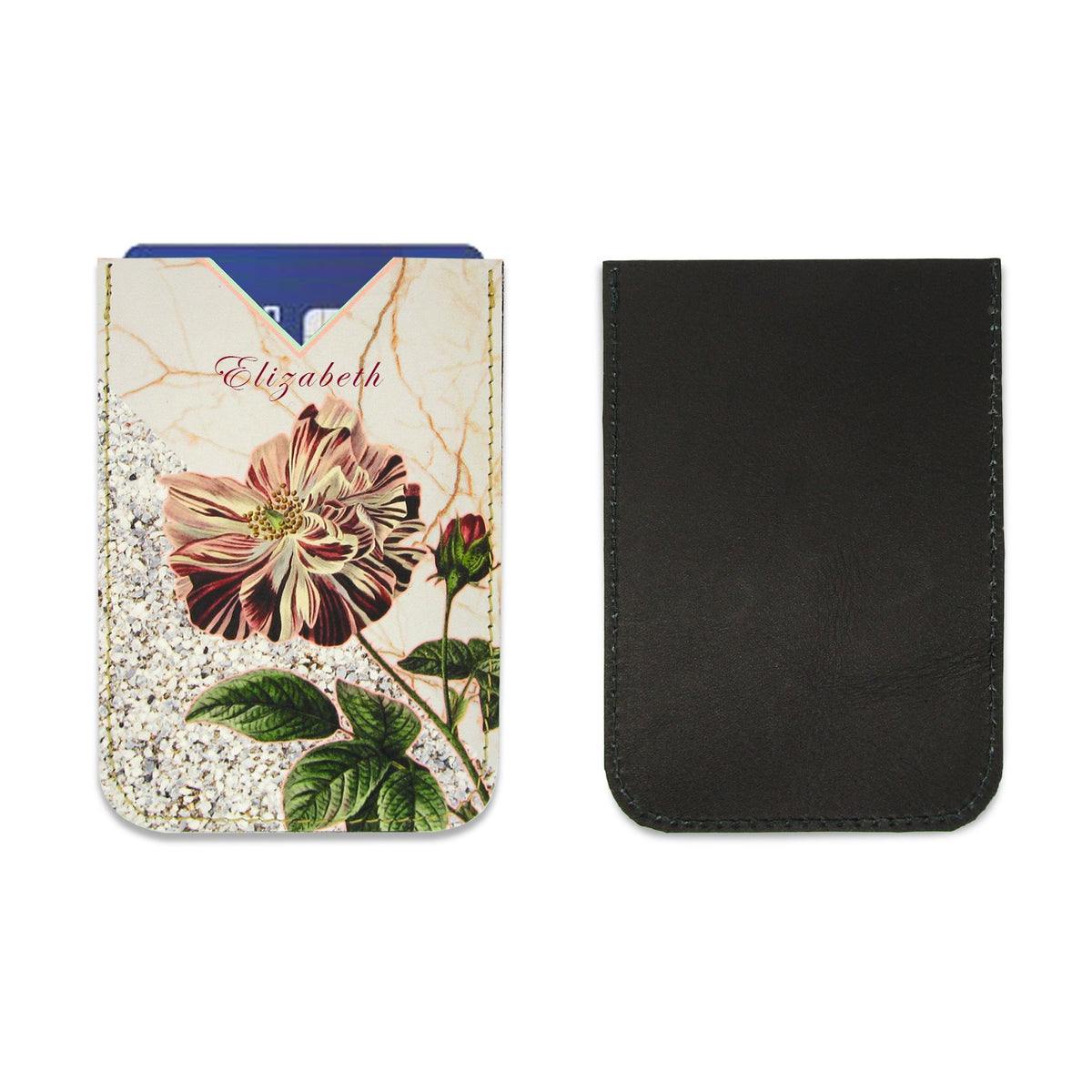 Leather Card Holder / Phone Sticker Wallet Pocket - Wild Rose Wallet Tovi Sorga Standard Card Holder With personalisation Pink
