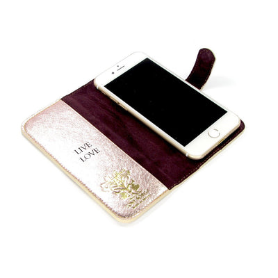 Customised with message genuine leather iPhone cell case - Tovi Sorga accessories UK