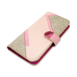 Leather Wallet Phone Case - Geometric Agate