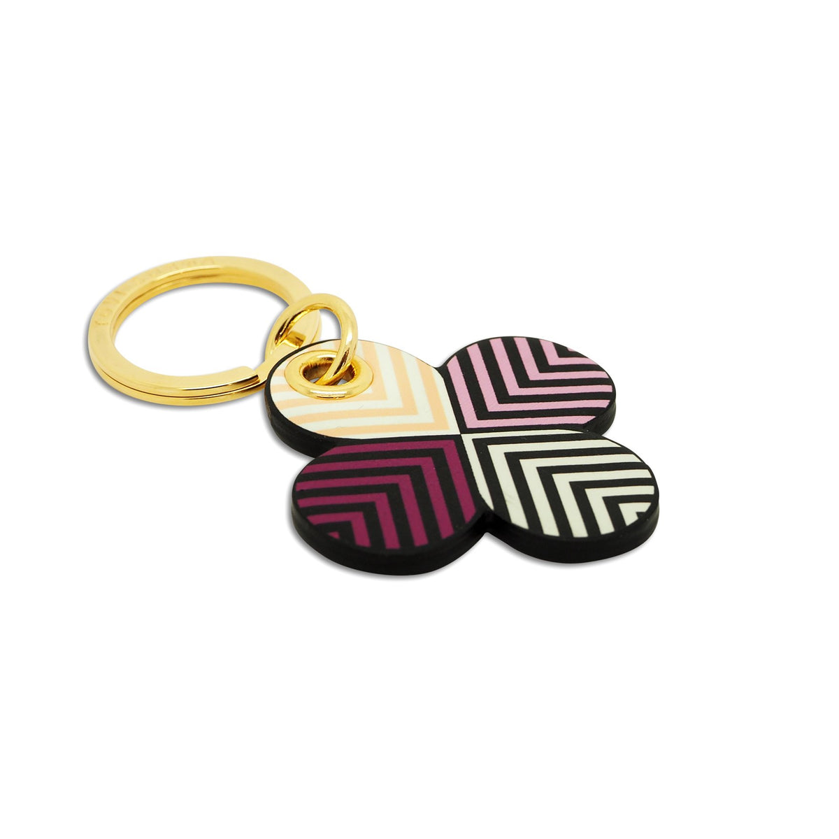 Leather Contactless Payment Key Ring / Bag Charm - Lucky Lilac Clover Tovi Sorga