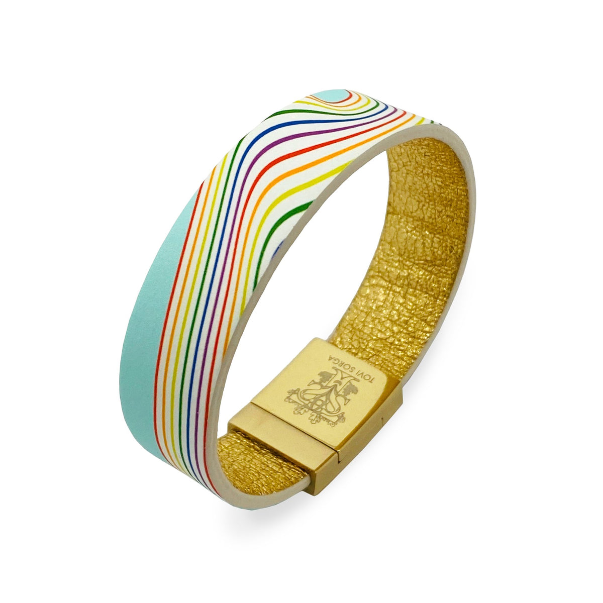 Leather Contactless Payment Bracelet: Rainbow for the National Health Service Contactless Payment Bracelet Tovi Sorga Extra-Small White