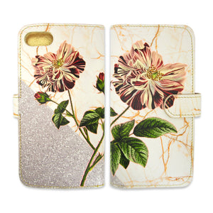 Leather Wallet Phone Case - Wild Rose