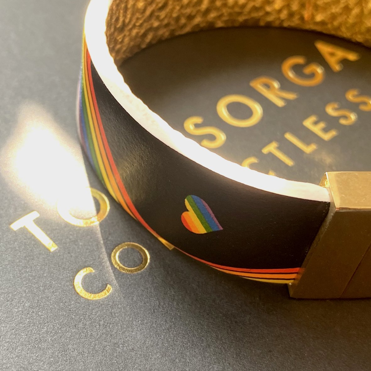Leather Contactless Payment Bracelet: Rainbow for the National Health Service Contactless Payment Bracelet Tovi Sorga
