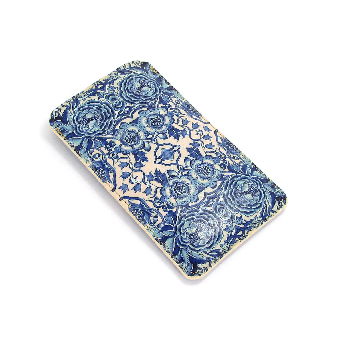 Leather Phone Case Sleeve - Blue & White Porcelain Phone case Tovi Sorga iPhone 5/5s/5c Blue No personalisation