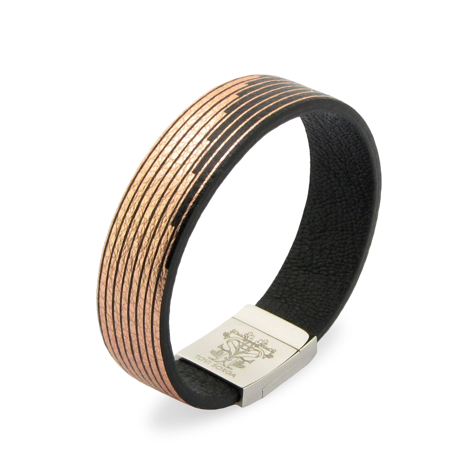 Leather Contactless Payment Bracelet: Palazzo