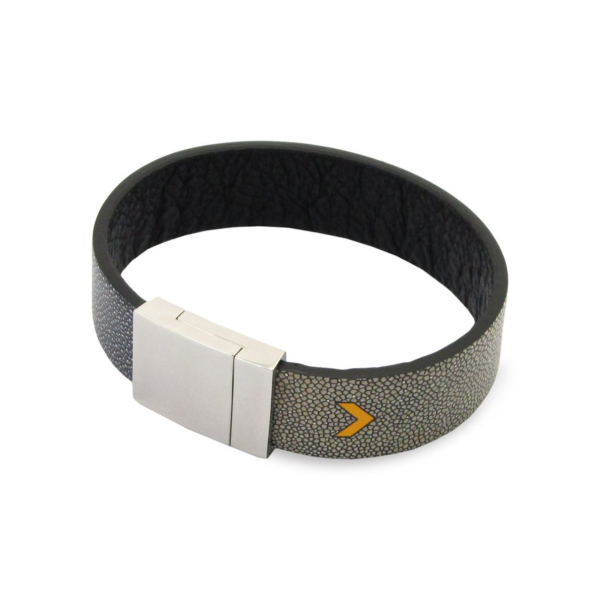 Leather Contactless Payment Bracelet: Ray Skin