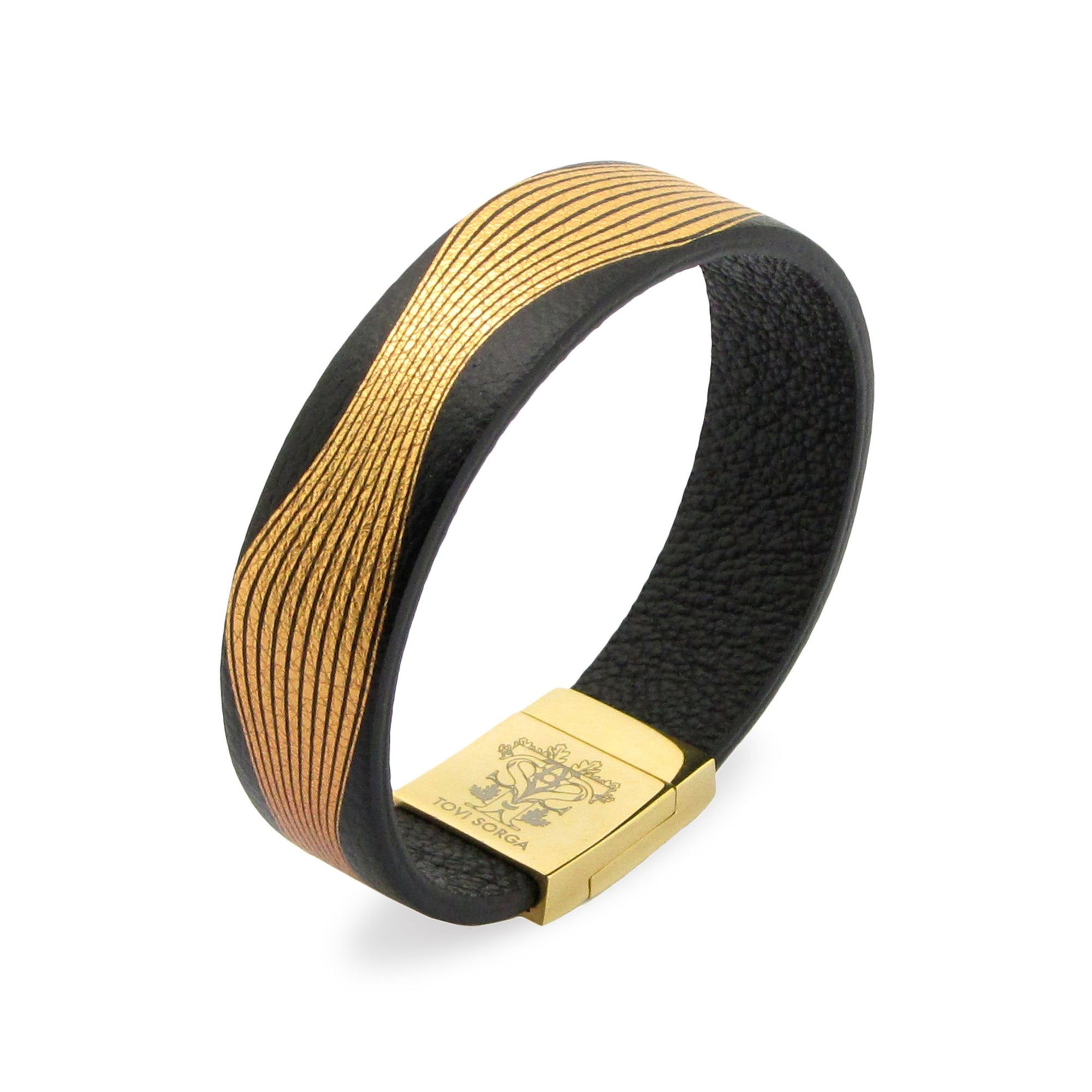 Leather Contactless Payment Bracelet: Rhythm Contactless Payment Bracelet Tovi Sorga Extra-Small Gold