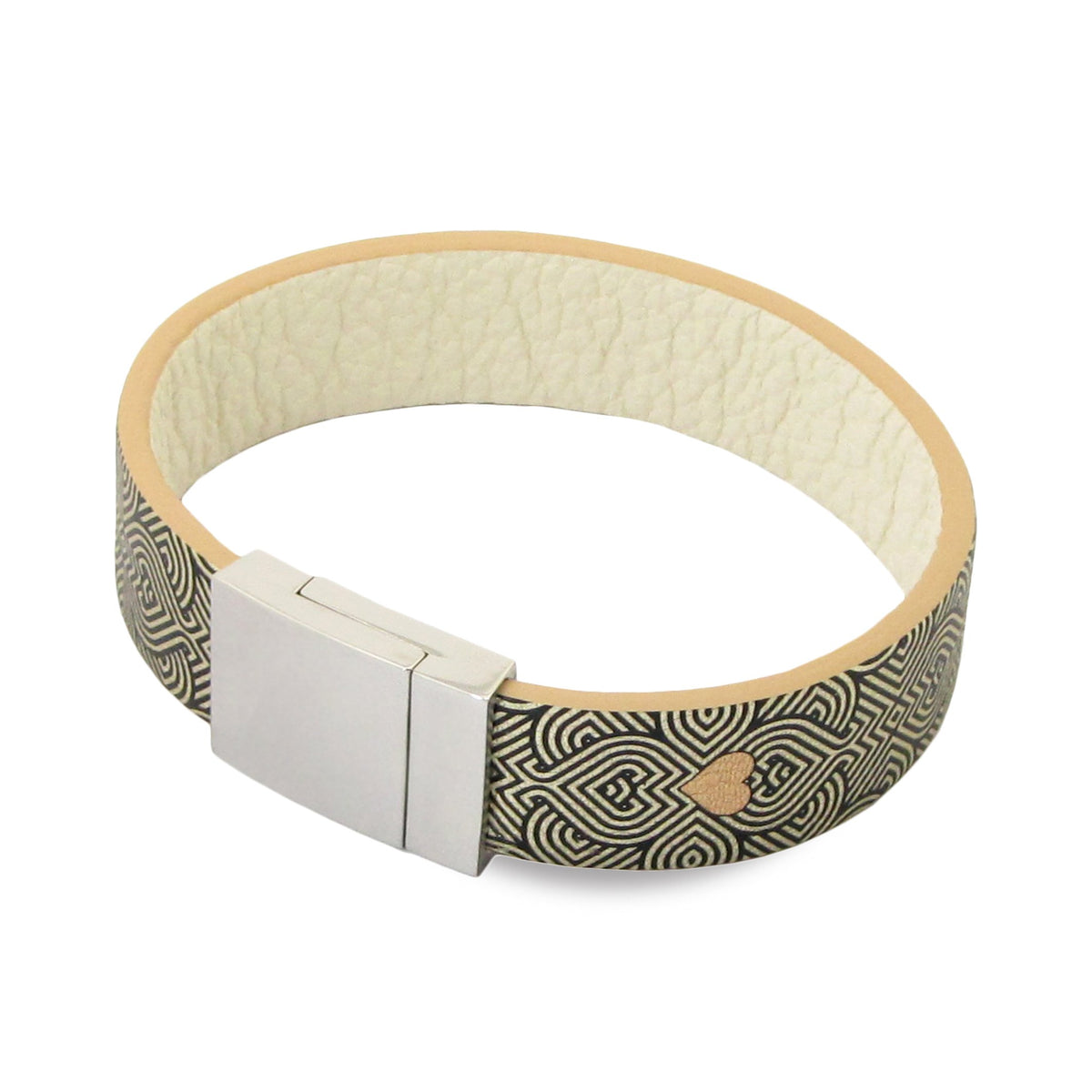 Leather Contactless Payment Bracelet: String of Hearts Contactless Payment Bracelet Tovi Sorga