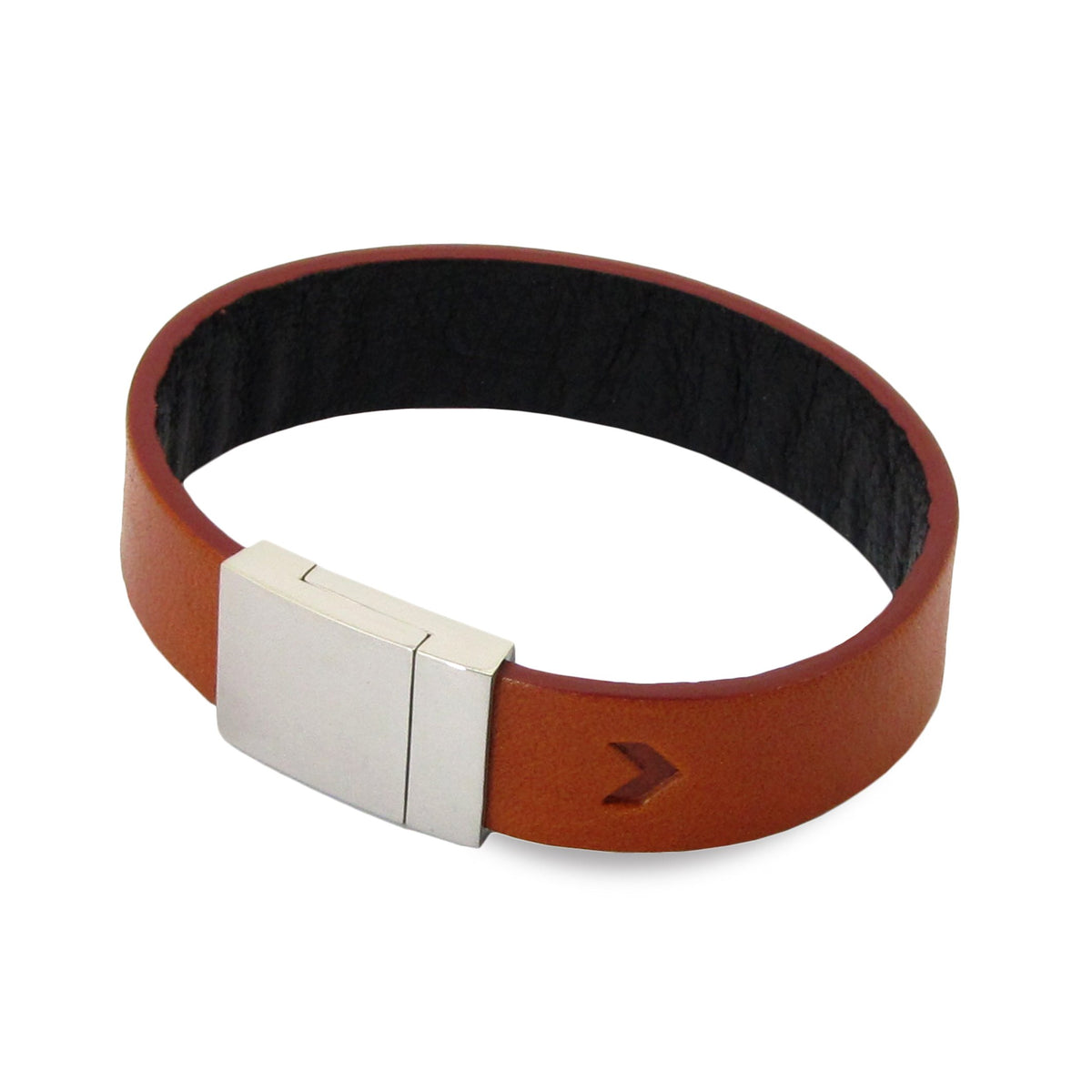 Leather Contactless Payment Bracelet: Tan on Black Contactless Payment Bracelet Tovi Sorga