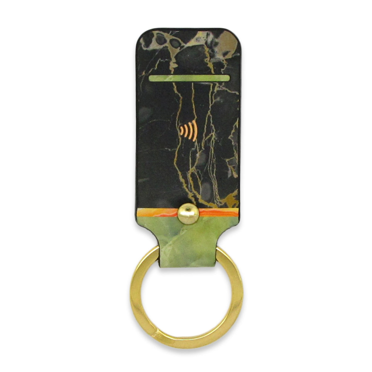 Leather Contactless Payment Key Fob - Black Jade Tovi Sorga With Contactless Payment Chip Jade
