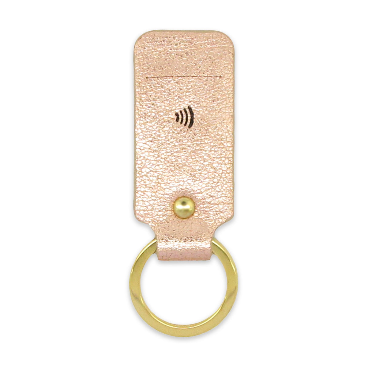 Leather Contactless Payment Key Fob - Rose Gold Tovi Sorga With Contactless Payment Chip Rose Gold