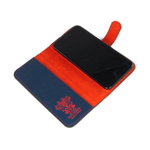 Genuine leather iPhone Flip Case with space for cards: red mens accessories by designer Tovi Sorga