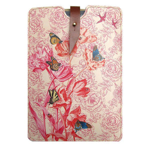Leather iPad / Kindle / Tablet Case - Springtime