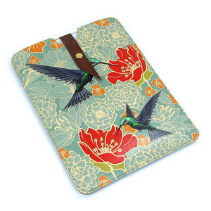 Leather iPad / Kindle / Tablet Case - Hummingbirds