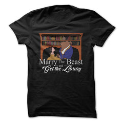 Marry the Beast, Get The Library - Book T-Shirt