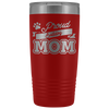 Bulldog Mom Gift For Mothers Day Tumbler Coffee Addict Dog Mom Tumbler To Go Coffee Mug 20 Oz Tumbler Cup Dog Mom Gifts Insulated - TUB-22