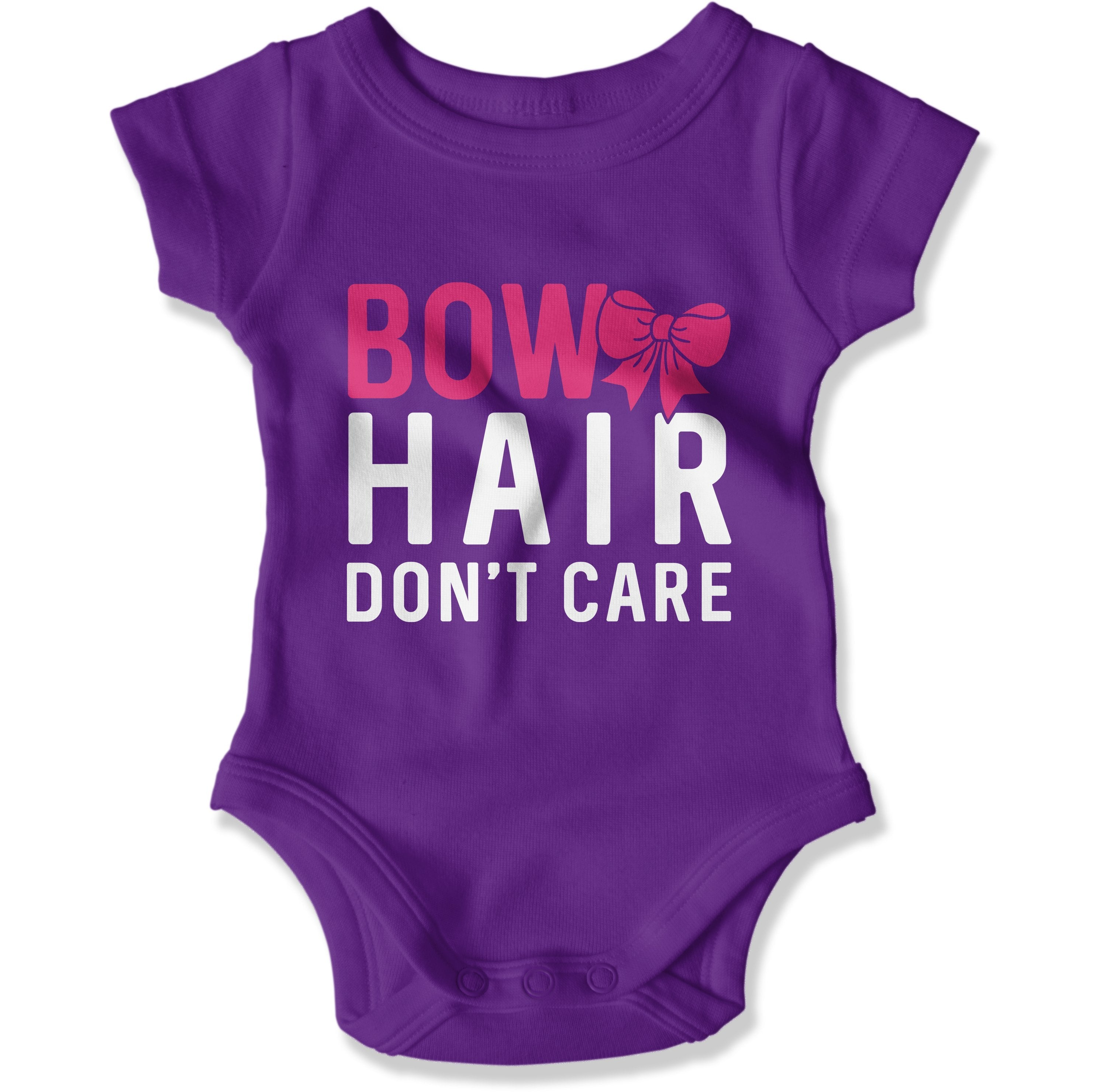 Bow Hair Don't Care - Baby Bodysuit