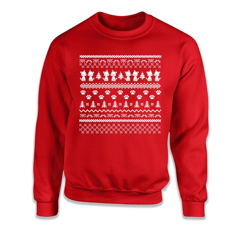 Cats - Ugly Christmas Sweater - T Shirt