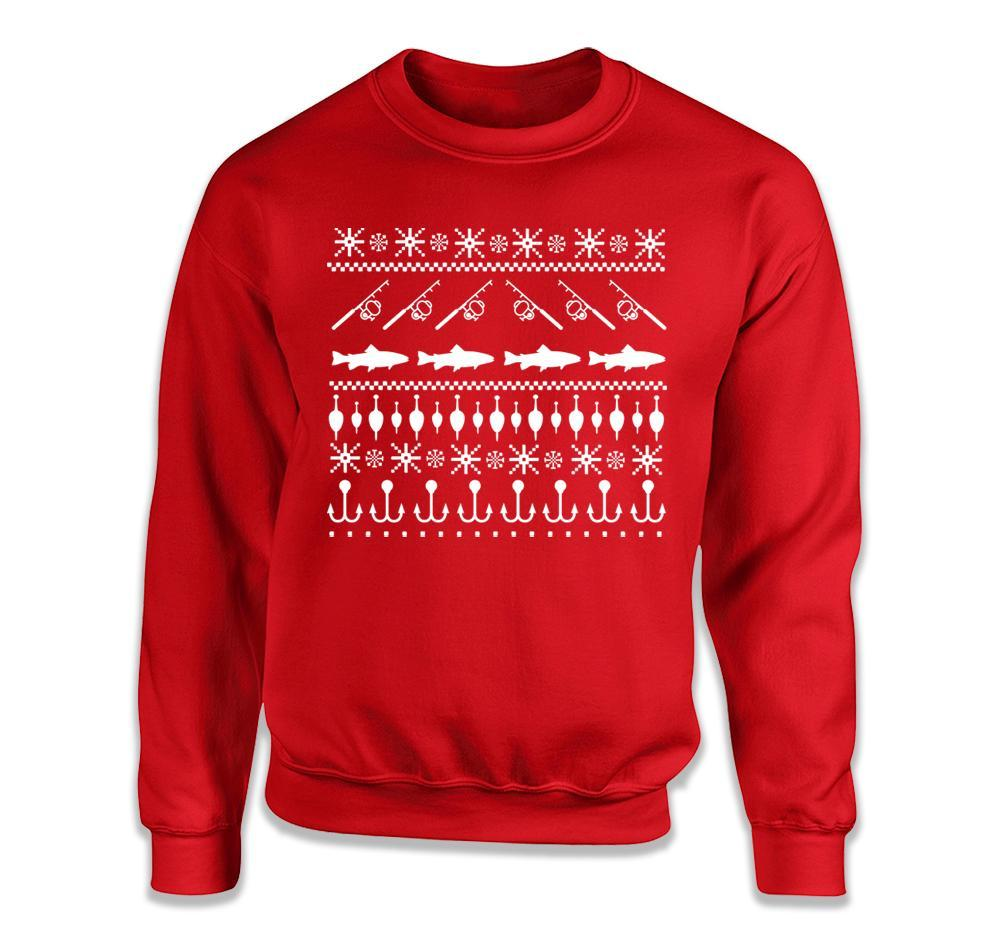 Ugly Christmas Sweater Design.Fishing Ugly Christmas Sweater T Shirt
