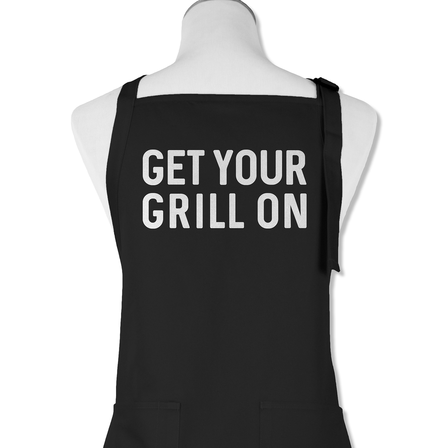 White apron mockup - Get Your Grill On Apron