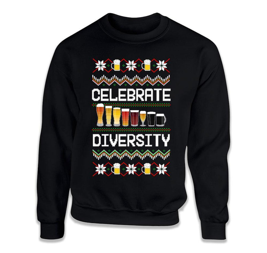 4150d441a500c Celebrate Diversity Beer Ugly Sweater - ILA-43 - T Shirt