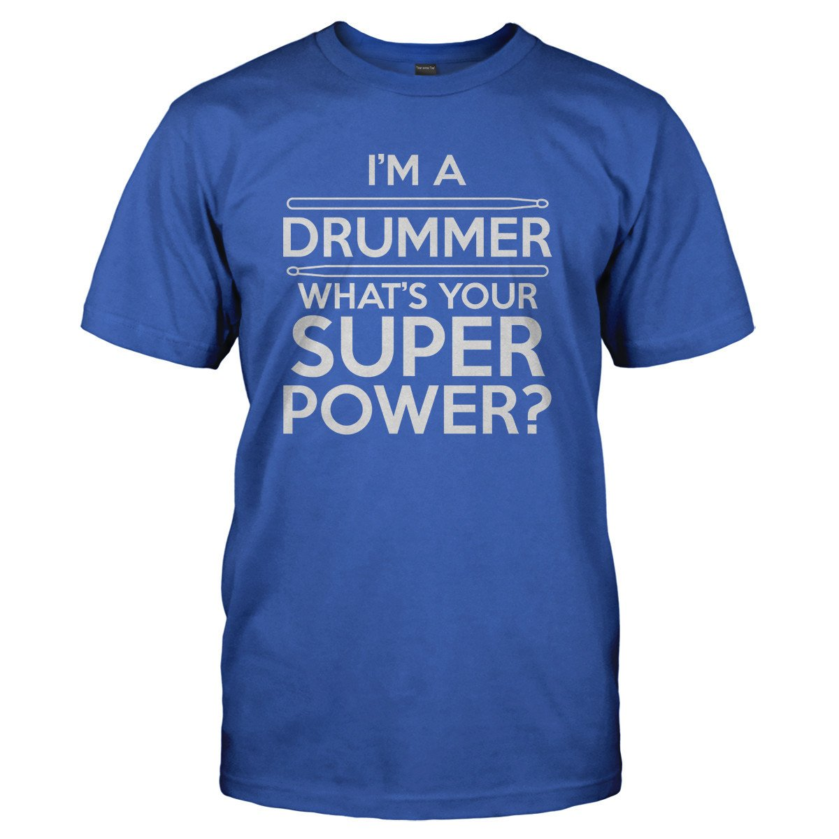 I/'m A Drummer What/'s Your Superpower Black Adult Tank Top