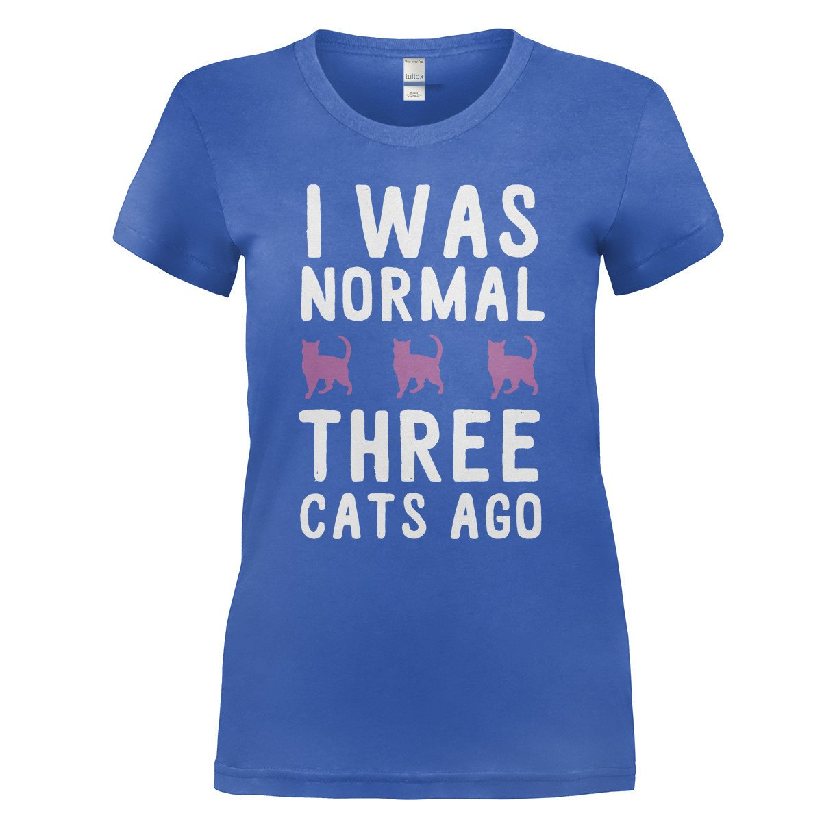 Comical Shirt Mens I was Normal 3 Cats Ago Hoodie