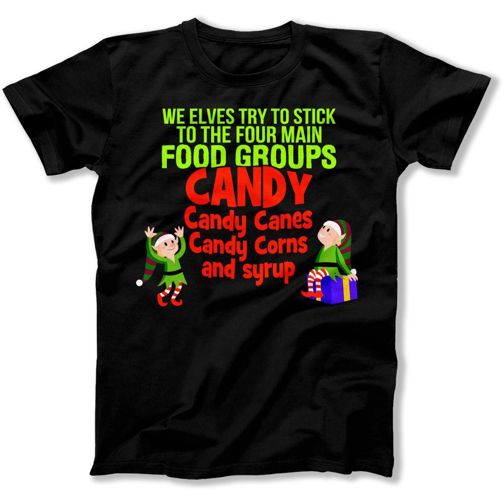 We Elves Try To Stick To The Four Main Food Groups T Shirt Hoo I Love Apparel