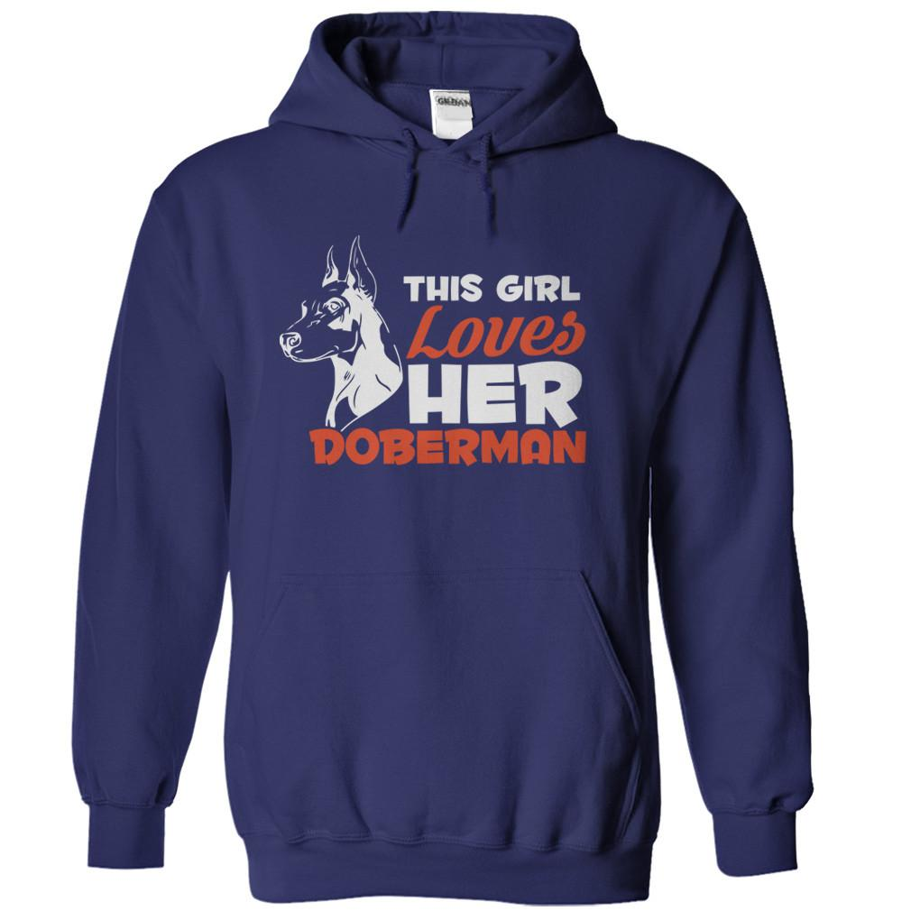 This Girl Loves Her Doberman