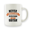 Never Underestimate and Old Man With a Guitar - 15oz Mug