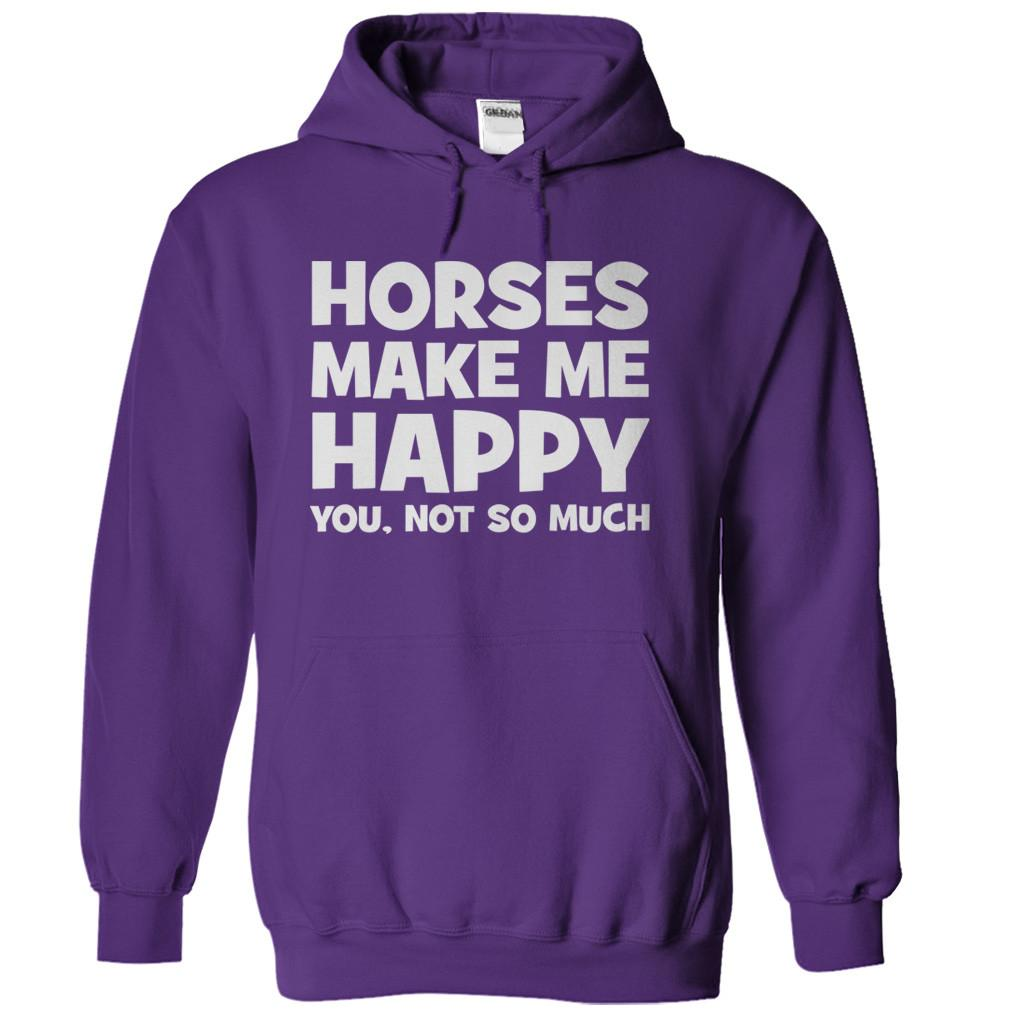 horses make me happy t shirt hoodie i love apparel. Black Bedroom Furniture Sets. Home Design Ideas