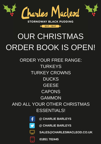 Our Christmas order book is open!