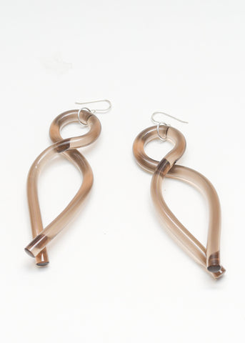 Twist Earrings - Smoke