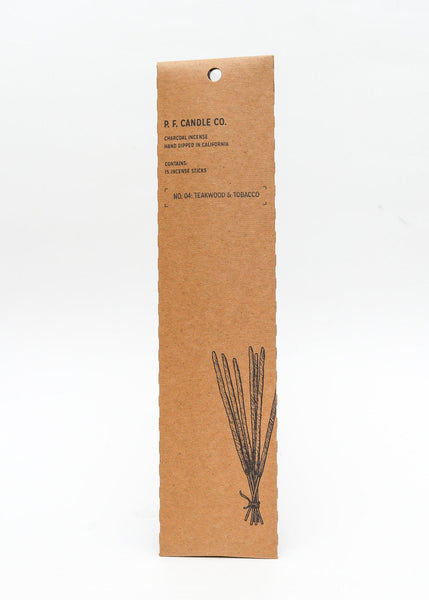 Tobacco and Teakwood Incense - PF Candle Co