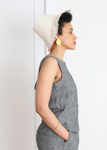 Tam Hat - White Canvas