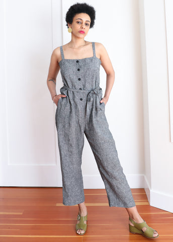 Twyla Jumpsuit - Salt and Pepper