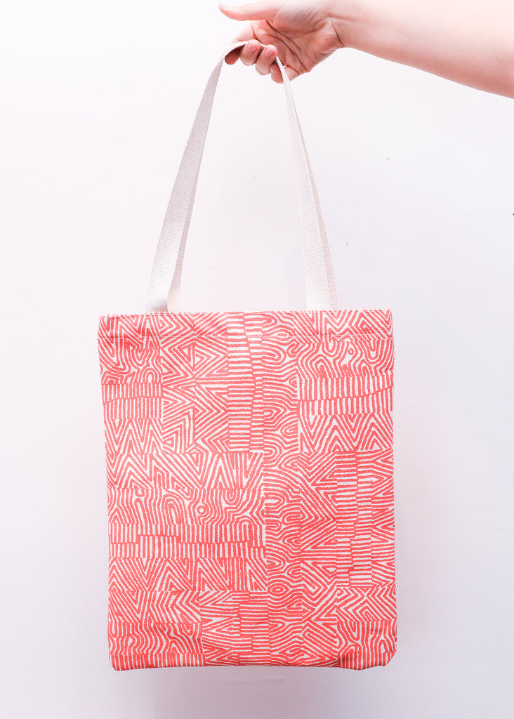 Orange Noiz Book Tote