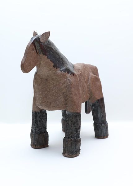 Brown Horse with Black Gloss - Jiki Jaku