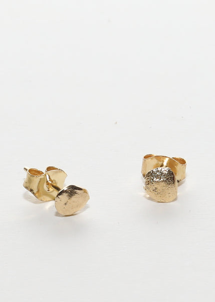 Tiny Nugget Earrings - studs