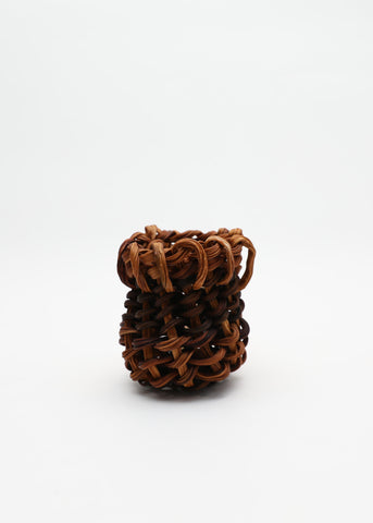 Kelp Swirl Basket - Black and Brown