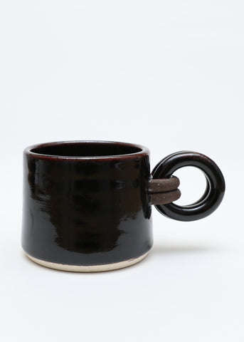 Loop Handle Mug - Shiny Black Temmoku