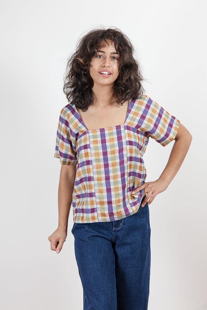 Cielo Top - Spring Plaid