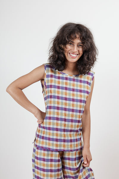 Corylus Top - Plaid